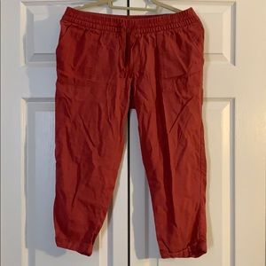 Dusty coral Old Navy linen pants